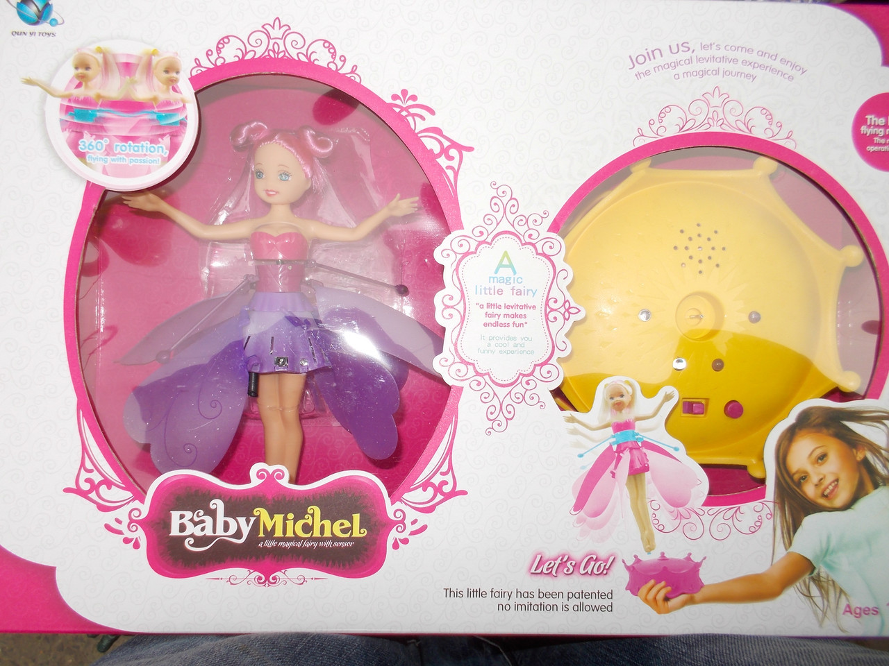 Кукла летающая фея Baby Michel с музыкой