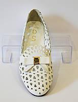 Балетки женские белые DS 752