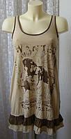 Платье туника модное летнее мини р.42 6745а