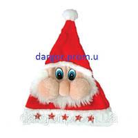 Шапка Деда мороза, 5 звезд, мигающая, 30 x 40 см, красная