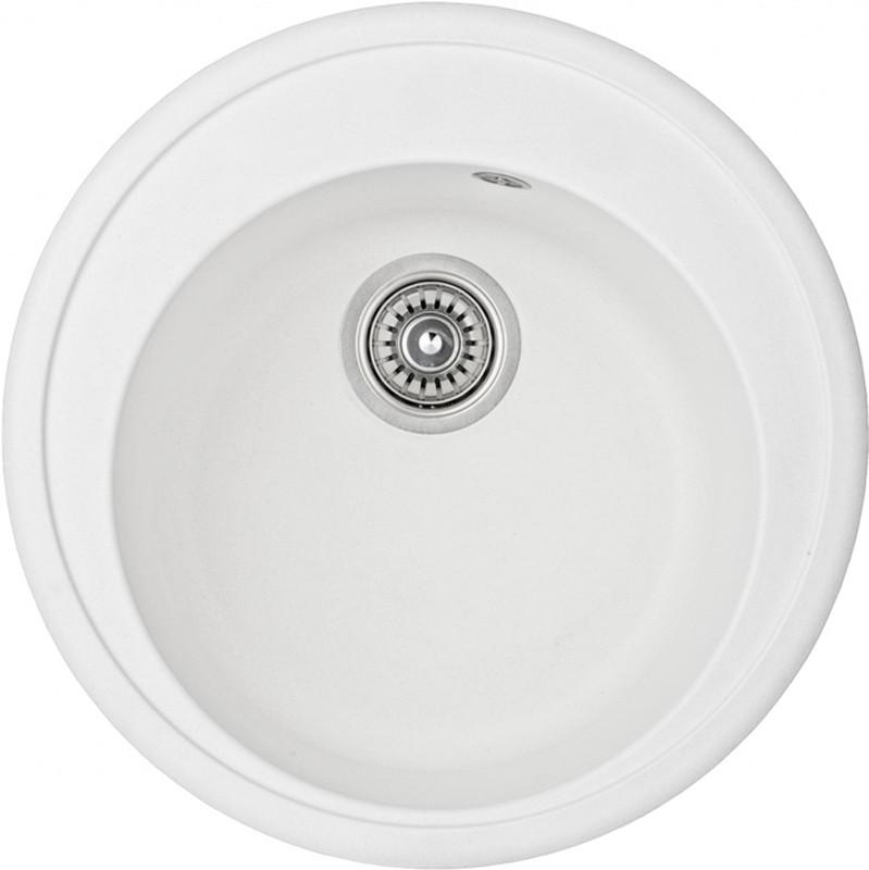 Круглая кухонная мойка Adamant SUN 51x51x20