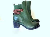 Элитные ботинки женские зеленые