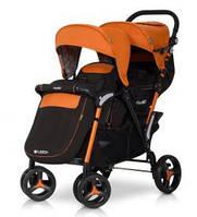 Прогулочная коляска для двойни EASY GO FUSION DUO orange