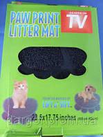 Коврик для домашних животных Paw Print Litter Mat, фото 1