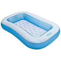 Детский надувной бассейн Интекс 57403, прямоугольный, 128 литров, 2+ лет, 163*100см