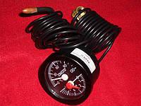 Термоманометр диаметр 52мм, диапазон 0-120 С, 0-6 Бар, капилляр -1500мм, чуств. элемент — ф6,5*25мм
