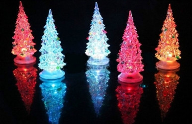 Новогодний LED светильник Елка на подставке(8*14,5)см. оптом