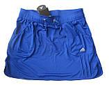 Шорты для тенниса (теннисные шорты) - юбка шорты для тенниса.  Юбка спортивная бирюзовая. Мод. 4051., фото 7