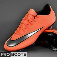Футбольные бутсы Nike Mercurial Vapor X FG Mango