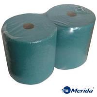 Бумажный материал протирочный промышленный универсальный в рулоне 400 м. Merida Klasik зелёный, Польша