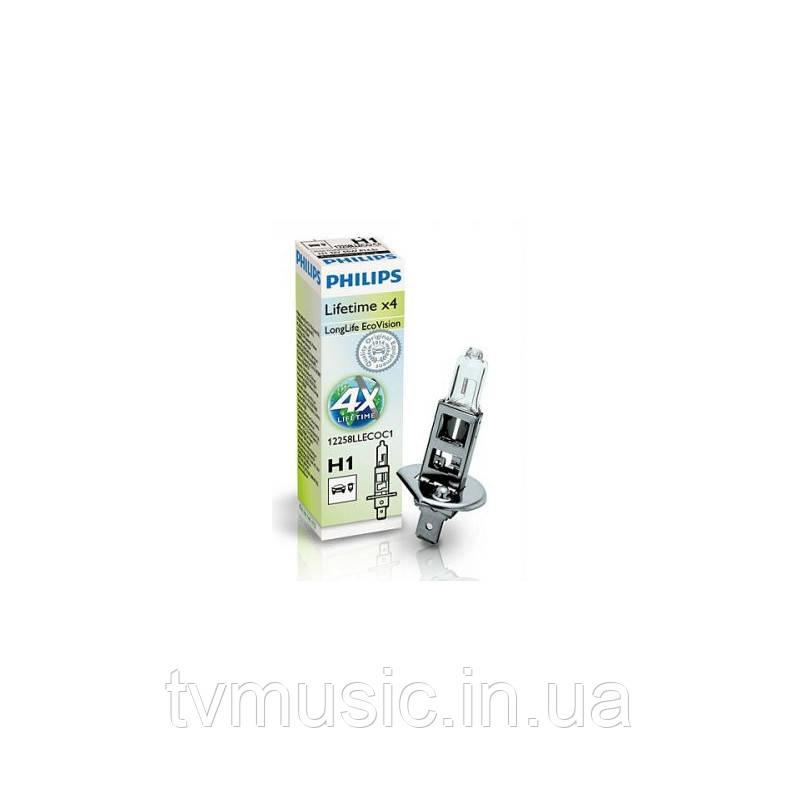 Галогенная лампа Philips LongLife EcoVision H1 (PS 12258 LLECO C1)