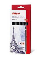 Карандаш набор  Skiper 12шт № 9500-12  разной твердости