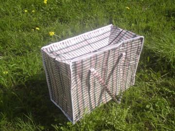 Господарська сумка баул з поліпропілену клітка №2 (Картата)