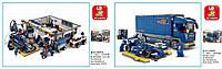 Конструктор Sluban Станция обслуживания/Гоночный грузовик M38-B0356/57 Формула 1