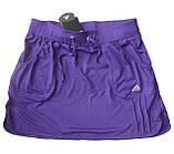 Юбка -шорты женская эластан.  Юбка с шортами. Юбка для тенниса. Юбка спортивная малиновая. Мод. 4051, фото 8