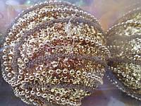 Шар новогодний с бусинками 2 (цена за набор)