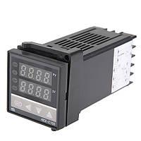 Электронный термостат регулятор температуры 0 - 400С базовое температурное реле 220В REX-C100