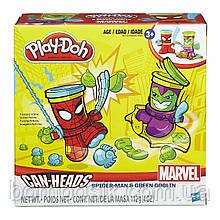"""Игровой набор пластилина Плей До """"Человек-паук и зелёный гоблин""""  B0744/В0594"""