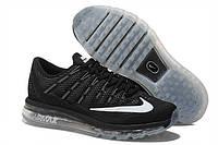 Мужские кроссовки Nike Air Max 2016 All Black Grey Реплика, фото 1