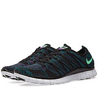 Мужские кроссовки Nike Free 5.0 Flyknit NSW Black/Green Реплика, фото 1