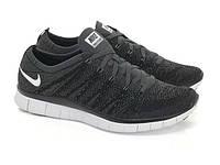 f5e76b0e Мужские кроссовки Nike Free 5.0 Flyknit NSW Black/White Реплика
