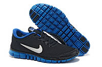 Мужские кроссовки Nike Free 3.0 v2 Black/Blue , фото 1