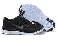 Мужские кроссовки Nike Free 5.0 Black/White/Grey Реплика, фото 1