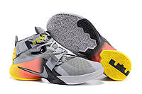 Мужские кроссовки Nike Lebron Soldier 9 Grey/Yellow/Orange