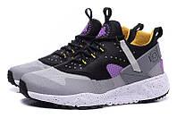 Мужские кроссовки Nike Air Huarache Utility Grey/Black/Purple