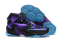 Мужские кроссовки Nike Lebron 13 Black/Blue/Purple Реплика, фото 1