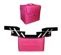 Чемодан-сумка тканевый для инструмента.Цвет-розовый.Размеры 35х23х20