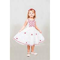Шикарное вышитое детское платье