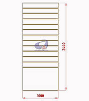 Экспопанель (экономпанель) Н=2440мм, W=1000мм, белая, фото 1