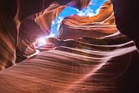 """Фотообои """"Красная пещера"""", Фактурная текстура (холст, иней, декоративная штукатурка)"""