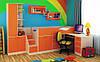 Кровать-чердак со столом и шкафом Симба