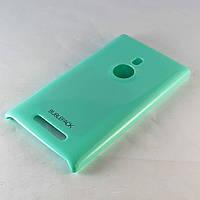 Чехол-накладка для Nokia Lumia 925, пластиковый, Buble Pack, Бирюзовый