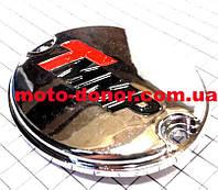 Крышка (овальная) правой крышки двигателя, хром для мопеда DELTA