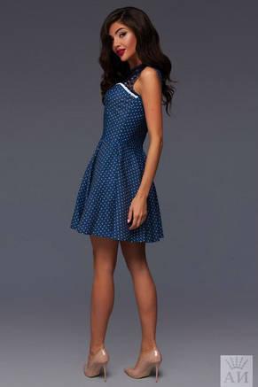Платье джинсовое с кружевом , фото 2