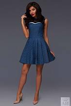 Платье джинсовое с кружевом