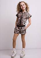 "Детский комбинезон ""Мариз"" с шортами леопард"