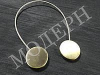 Магнит-подхват для штор Геометрия круг цвет антик
