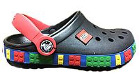 Детские кроксы Crocs Crocband Lego Black черные