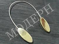 Магнит-подхват для штор Геометрия овал цвет золото