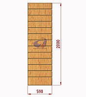 Экспопанель (экономпанель) Н=2000мм, W=590мм, бук