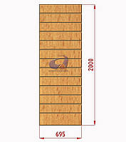 Экспопанель (экономпанель) Н=2000мм, W=695мм, бук, фото 1