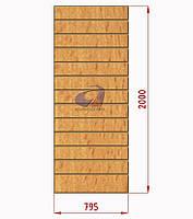 Экспопанель (экономпанель) Н=2000мм, W=795мм, бук, фото 1