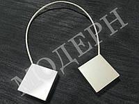Магнит-подхват для штор Геометрия квадрат цвет сатин-никель