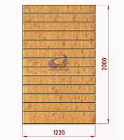 Экспопанель (экономпанель) Н=2000мм, W=1220мм, бук, фото 1