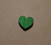 Декоративное сердце, 1,8 см*2 см, цвет зеленый
