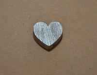 Декоративное сердце, 1,8 см*2 см, цвет серебрянный
